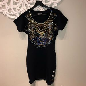 Kenzo T-shirt sequence dress size small